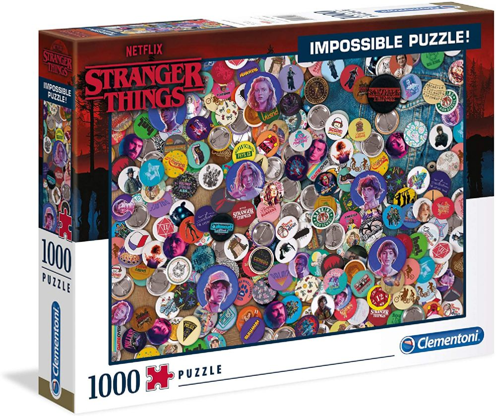 Clementoni 39528 Stranger Things 1000 Pieces Teens Adults Impossible Jigsaw Puzzle